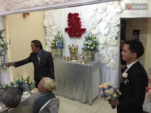 Cập nhật:  Chú rể Văn Anh đã có mặt tại nhà Tú Vi làm lễ gia tiên