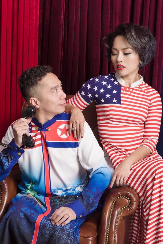 NTK Đỗ Trịnh Hoài Nam và ca sĩ Thái Thuỳ Linh ăn ý trong BST áo dài đặc biệt