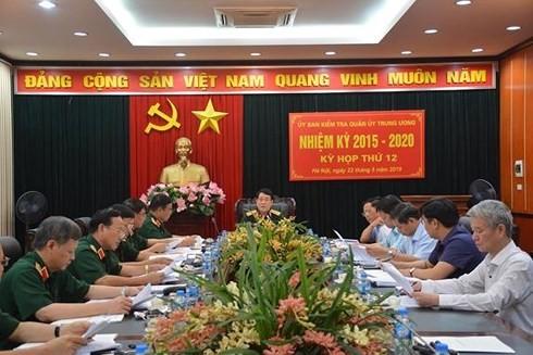 UBKT Quân ủy Trung ương đề nghị thi hành kỷ luật 8 tổ chức, cá nhân