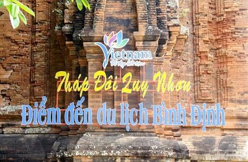 Bình Định đã gỡ slogan xâm hại di tích trên tháp Chăm