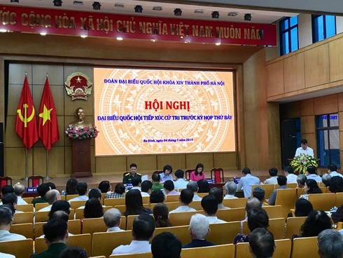Các ĐBQH đoàn TP Hà Nội tiếp xúc cử tri quận Ba Đình, Hoàn Kiếm