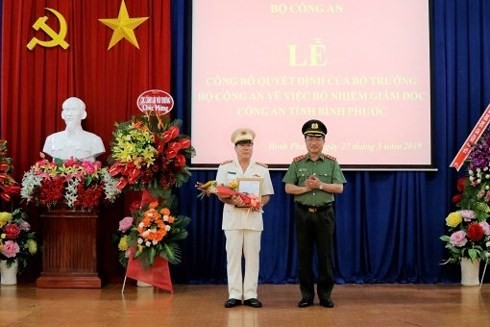Đại tá Bùi Xuân Thắng giữ chức Giám đốc Công an tỉnh Bình Phước
