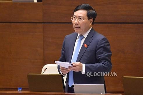 Quốc hội chất vấn Bộ trưởng Nguyễn Ngọc Thiện, Phó Thủ tướng Phạm Bình Minh