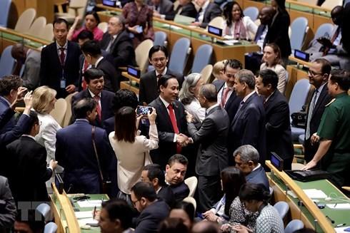 Các phái đoàn chúc mừng Việt Nam đắc cử ủy viên không thường trực HĐBA