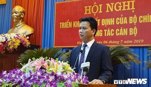 Chủ tịch UBND tỉnh Hà Tĩnh Đặng Quốc Khánh được bổ nhiệm làm Bí thư Tỉnh ủy Hà Giang