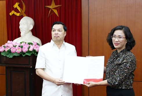 Bà Đinh Thị Mai giữ chức Vụ trưởng Vụ Tuyên truyền Ban tuyên giáo Trung ương