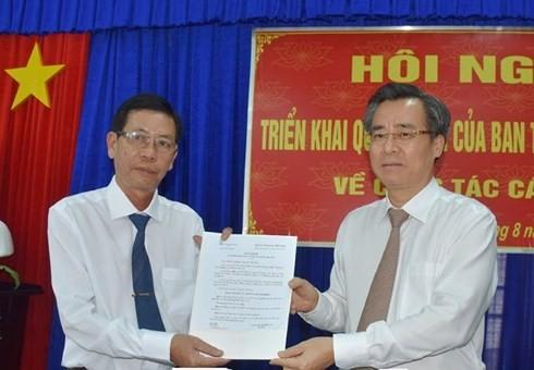 Bổ nhiệm, chuẩn y nhân sự 3 tỉnh Bạc Liêu, Sóc Trăng, Quảng Nam