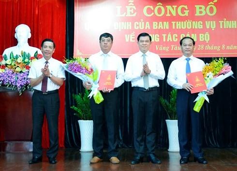Nhân sự lãnh đạo mới tại 2 tỉnh Bà Rịa Vũng Tàu và Bến Tre