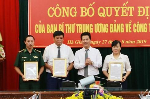 Công bố quyết định của Ban Bí thư TƯ Đảng về công tác cán bộ tỉnh Hà Giang