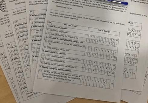 """Trường học ở TP.HCM cho học sinh """"chấm điểm"""" giáo viên"""