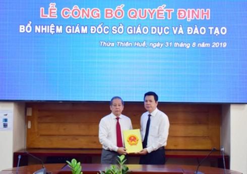 Thừa Thiên Huế: Bổ nhiệm ông Nguyễn Tân làm Giám đốc Sở GD&ĐT