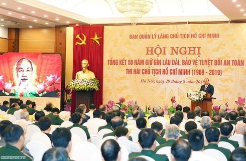 Sau 50 năm, thi hài Chủ tịch Hồ Chí Minh đang được giữ gìn rất tốt