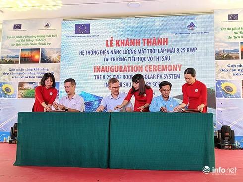 Đà Nẵng: EU tài trợ điện mặt trời lắp mái cho trường học, bệnh viện