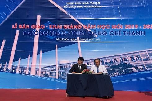 Trungnam Group bàn giao Trường THCS-THPT Đặng Chí Thanh (Ninh Thuận)