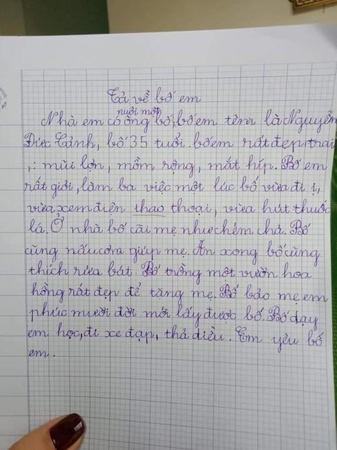 'Cười đau ruột' với những ông bố bị con 'tả thực' trong bài tập làm văn