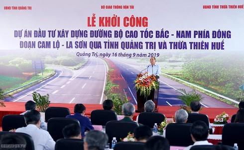 Phát lệnh khởi công dự án đầu tiên của tuyến cao tốc Bắc-Nam phía Đông