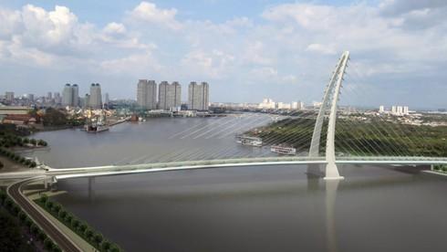 Người dân TP.HCM có thể đạp xe trên cầu đi bộ qua sông Sài Gòn