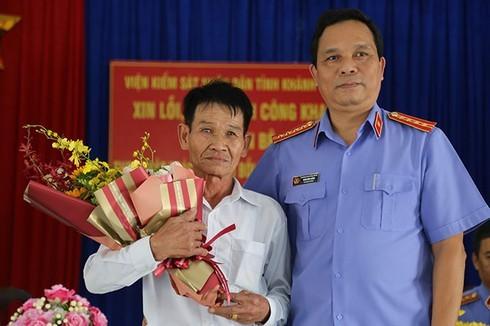 Khánh Hòa: Viện Kiểm sát nhân dân tỉnh xin lỗi người bị giam oan sau 38 năm