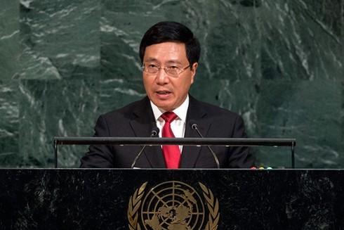 Phó Thủ tướng Phạm Bình Minh nêu vấn đề Biển Đông tại Đại hội đồng Liên Hợp quốc