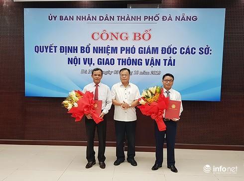 Đà Nẵng: Sở Nội vụ và Sở GTVT có tân Phó giám đốc