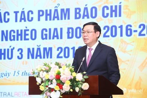 """Phó Thủ tướng Vương Đình Huệ:""""Mong có nhiều tác phẩm xuất sắc về công tác giảm nghèo"""""""