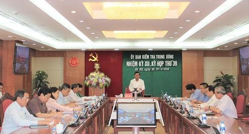 Kỳ họp 39 của Ủy ban Kiểm tra Trung ương: Xem xét kỷ luật một loạt lãnh đạo chủ chốt