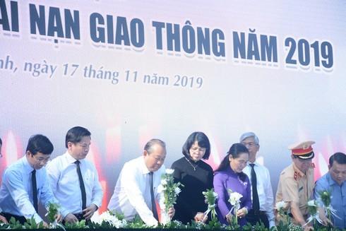 TP.HCM: Dâng hoa tưởng niệm các nạn nhân tử vong do tai nạn giao thông