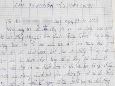 Rúng động tin nữ sinh viết đơn 'tự nguyện yêu thầy'