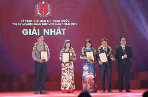 """Lễ trao giải báo chí toàn quốc """"Vì sự nghiệp Giáo dục Việt Nam"""" năm 2019"""