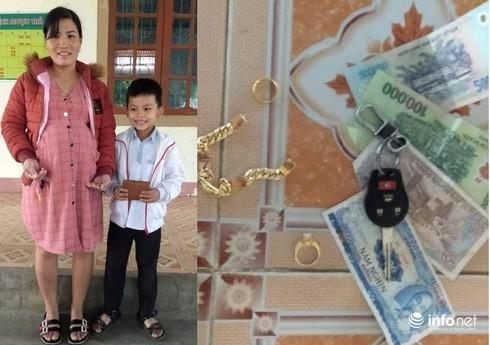 Hà Tĩnh: Nhặt được tiền, trang sức trị giá 20 triệu, HS lớp 3 tìm người trả lại