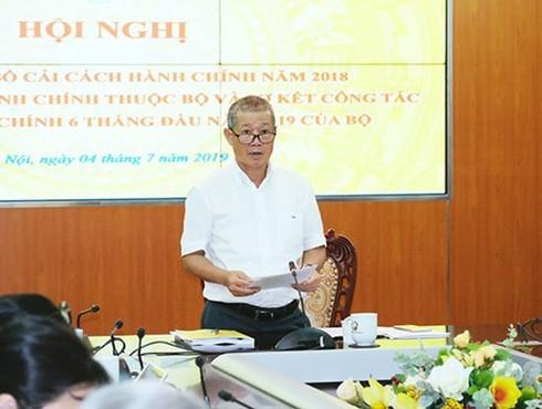 Thứ trưởng Nguyễn Thành Hưng là thành viên Ban chỉ đạo cải cách hành chính của Chính phủ