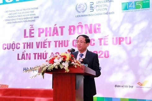 Phát động Cuộc thi Viết thư quốc tế UPU lần thứ 49 năm 2020