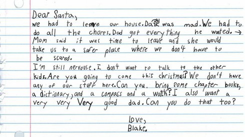 Rơi nước mắt đọc bức thư của bé trai 7 tuổi gửi ông già Noel xin một người cha tốt