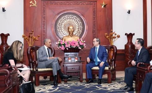 Cựu Tổng thống Obama sẵn sàng làm cầu nối giới thiệu doanh nghiệp Hoa Kỳ đến Việt Nam