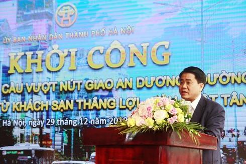 Ông Nguyễn Đức Chung phát lệnh khởi công dự án hơn 815 tỷ đồng