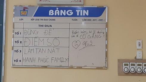 Chết cười với bảng tin học sinh gửi cha mẹ ngày họp phụ huynh