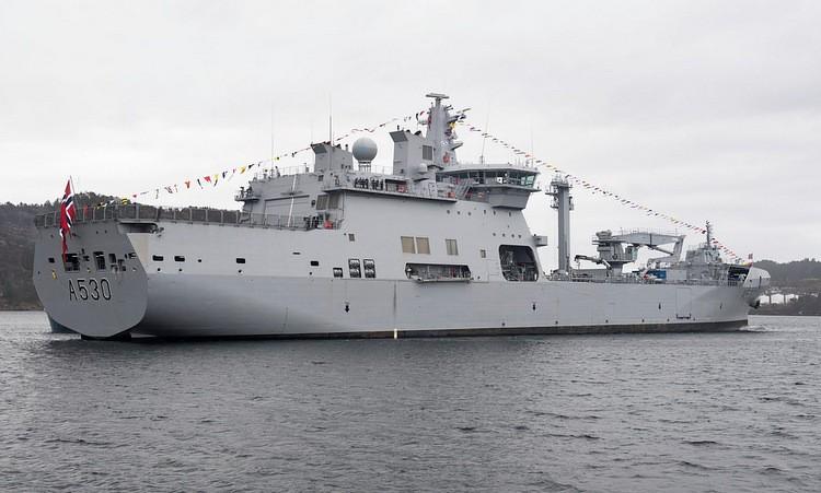 Tàu hải quân lớn nhất Na Uy bị cấm ra biển