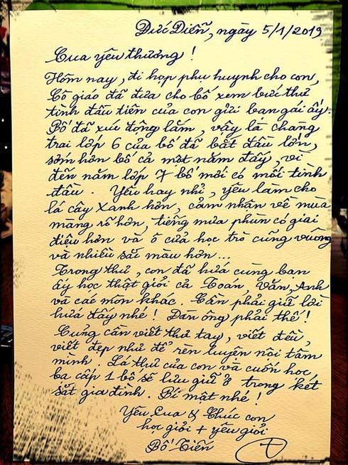 """Thấy thư tình của con gửi bạn gái, ông bố ứng xử khiến dân mạng """"phục sát đất"""""""