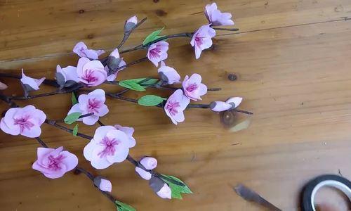 Làm hoa đào từ giấy