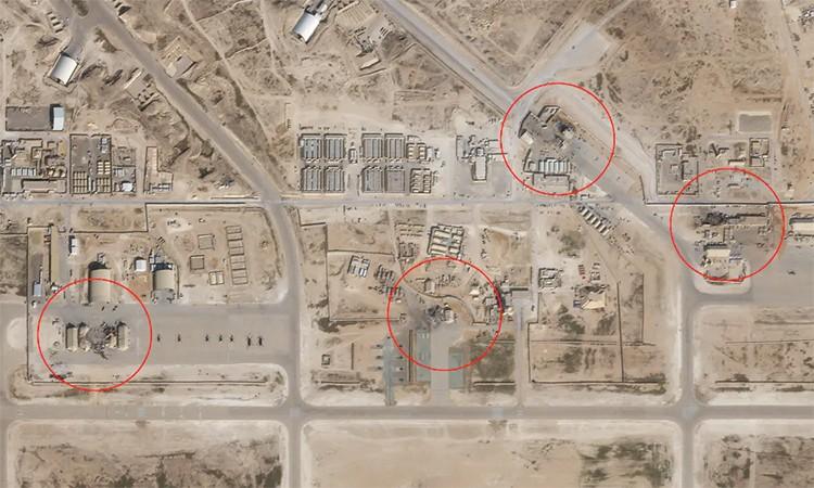 Căn cứ Iraq hư hại sau đòn tên lửa của Iran