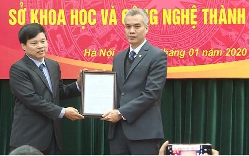 Tân Giám đốc Sở KH&CN Hà Nội Nguyễn Hồng Sơn