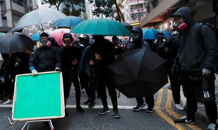 Người Hong Kong biểu tình vào năm mới