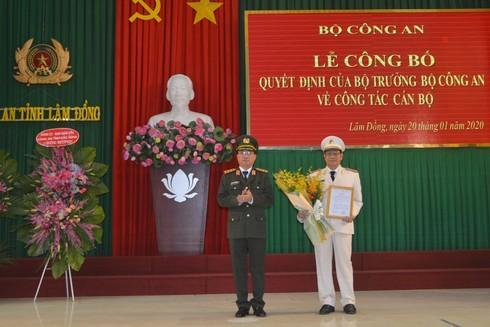 Bổ nhiệm Phó giám đốc Công an tỉnh Đắk Nông giữ chức Giám đốc Công an Lâm Đồng