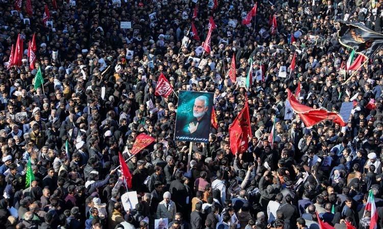 Iran hoãn chôn cất tướng Soleimani