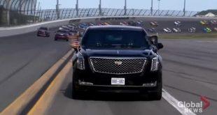 'Quái thú' của Tổng thống Mỹ dẫn đầu đoàn xe đua