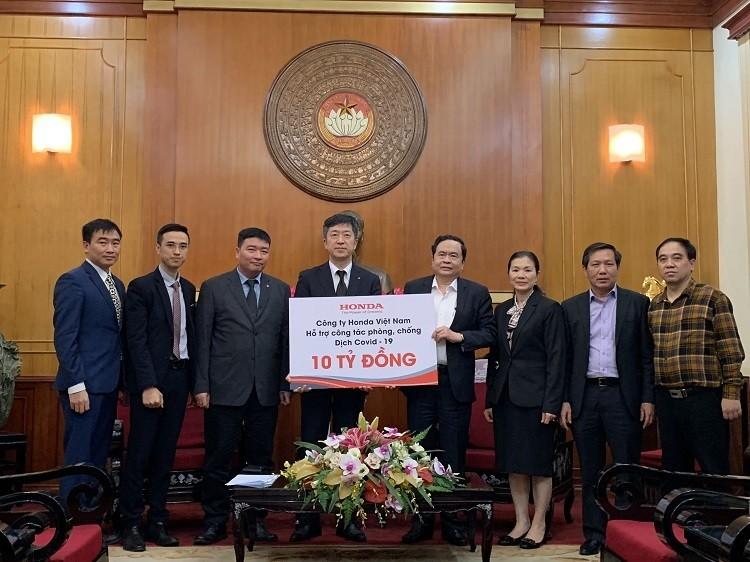 Honda Việt Nam góp 10 tỷ cho quỹ phòng chống Covid-19