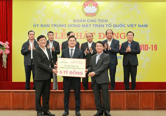 Tập đoàn Hưng Thịnh góp 5 tỷ đồng chống dịch Covid-19